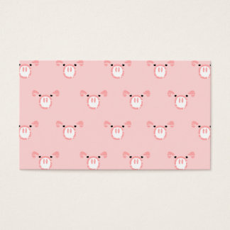 Pink Pig Face Repeating Pattern