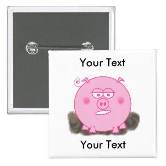 Pink Pig Flair Button