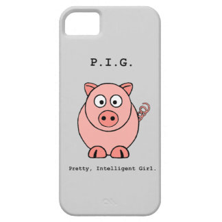 Pink Pig Humor Barely There iPhone 5 Case