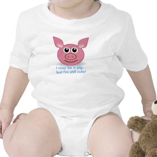 Pink Pig - I'm Still Cute design Baby Creeper