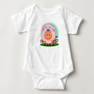 Pink Pig Infant Creeper