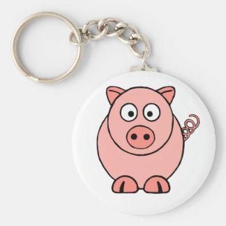 Pink Pig Keychain