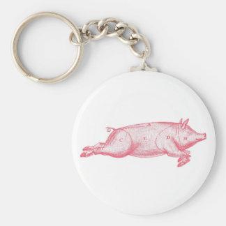 Pink Pig Key Ring Key Chains