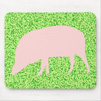 Pink Pig Mousepad Mouse Pad