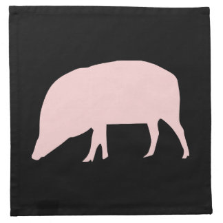 Pink Pig Napkin