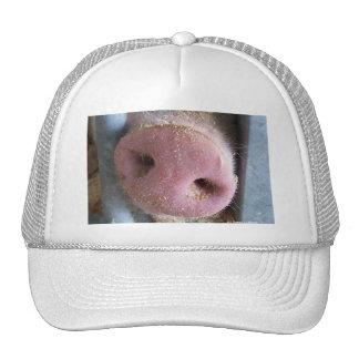 Pink Pig nose close up photograph Mesh Hat