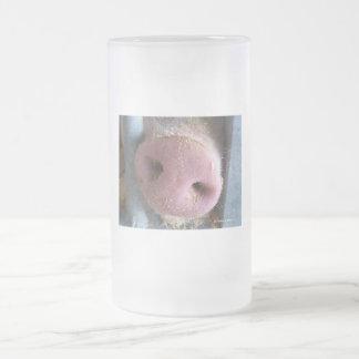 Pink Pig nose close up photograph Mug
