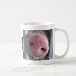 Pink Pig nose close up photograph Coffee Mugs