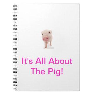 Pink Pig Notebook