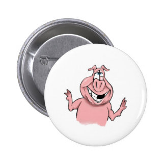 Pink Pig on Customisable Products 6 Cm Round Badge