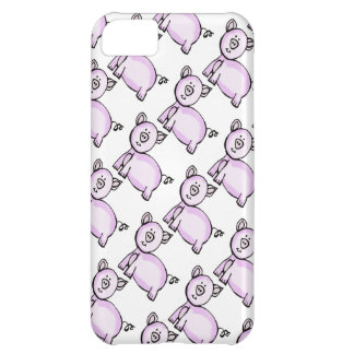 Pink pig parade iPhone 5C covers