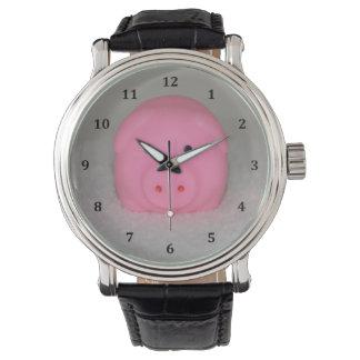 Pink Pig Piggy Watch