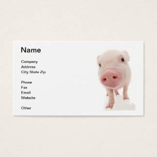 Pink Pig Piglet Business Card