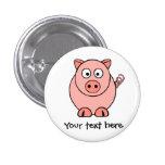Pink Pig Pinback Buttons