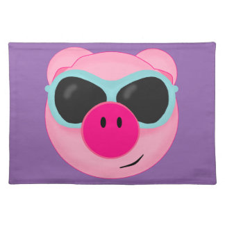 Pink Pig Placemat