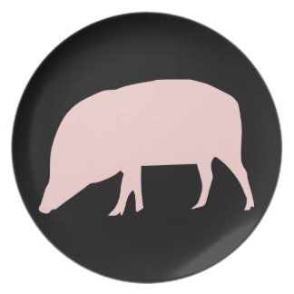 Pink Pig Plate