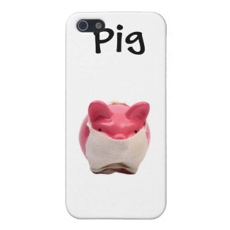 Pink Pig Sick Logo Cover For iPhone 5/5S
