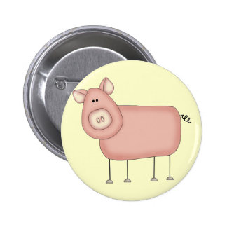 Pink Pig T-shirts and Gifts Buttons