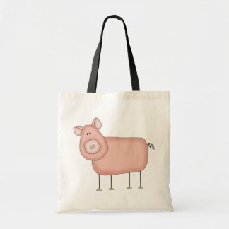 Pink Pig T-shirts and Gifts Budget Tote Bag