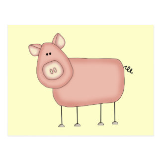 Pink Pig T-shirts and Gifts Postcard