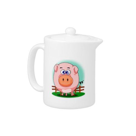 Pink Pig Teapot