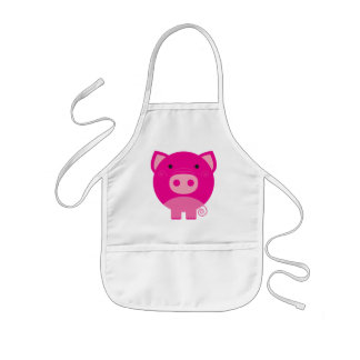 Pink Pig Tshirts and Gifts Kids Apron