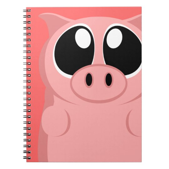 Pink Pig with Big Eyes! Notebooks