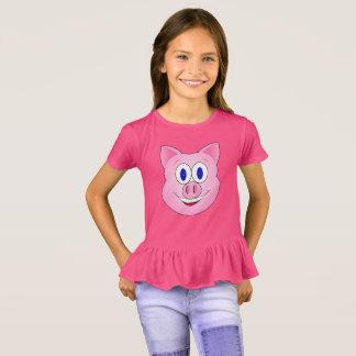 Pink Piggie Face T-Shirt