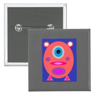 Pink Piggy 15 Cm Square Badge