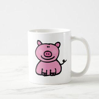 Pink piggy basic white mug