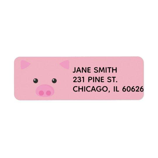 Pink Piggy Face