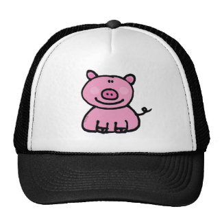 Pink piggy mesh hat