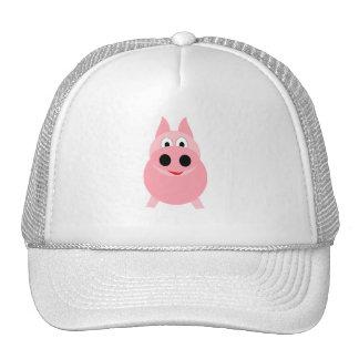 Pink Piggy Mesh Hats