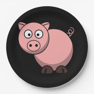 Pink Piggy Paper Plate