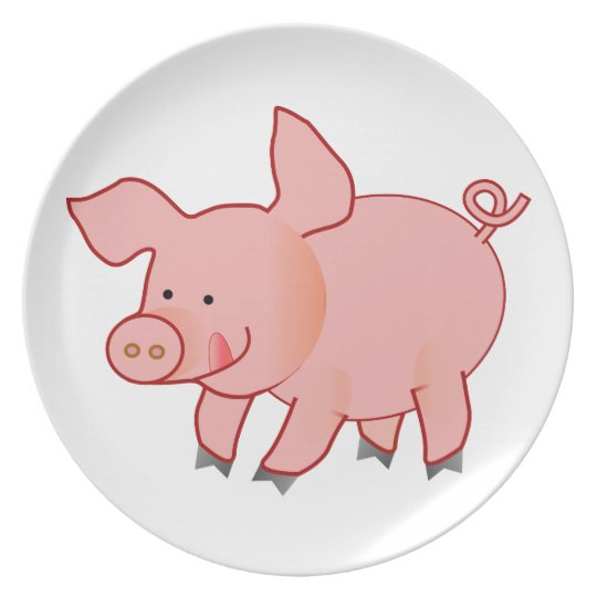 Pink piggy plate