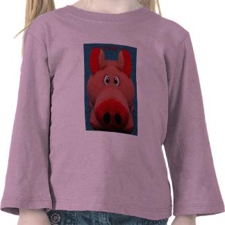 Pink Piggy T-Shirt by Zoltan Buday