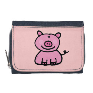 pink piggy wallets