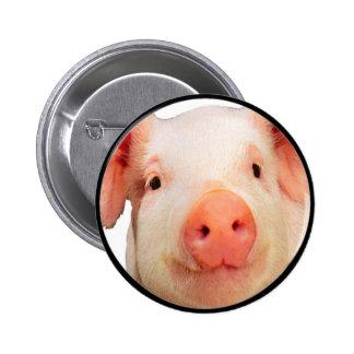 """""""Pink Piglet"""" 6 Cm Round Badge"""
