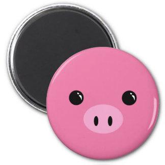 Pink Piglet Cute Animal Face Design Fridge Magnet