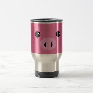 Pink Piglet Cute Animal Face Design Mugs