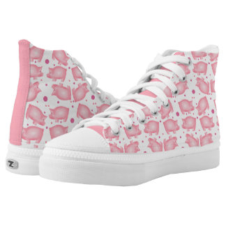 Pink Pigs High Top ZIPZ® Shoes