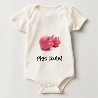 Pink Pigs Rule! Baby Bodysuit