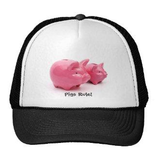 Pink Pigs Rule! Cap