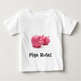 Pink Pigs Rule! Infant T-Shirt