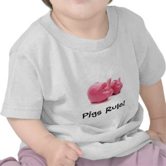 Pink Pigs Rule T Shirt