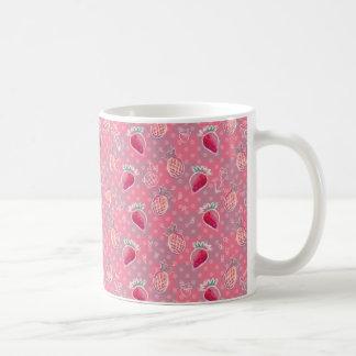 Pink Pineapple Strawberry Pattern Coffee Mug