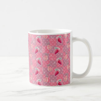 Pink Pineapple Strawberry Pattern Mugs