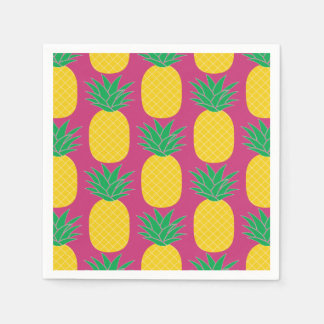 Pink Pineapple Tropical Disposable Serviette