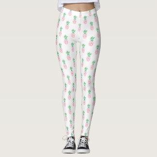 Pink Pineapples Pattern Leggings