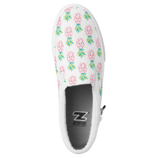 Pink Pineapples Pattern Slip-On Shoes